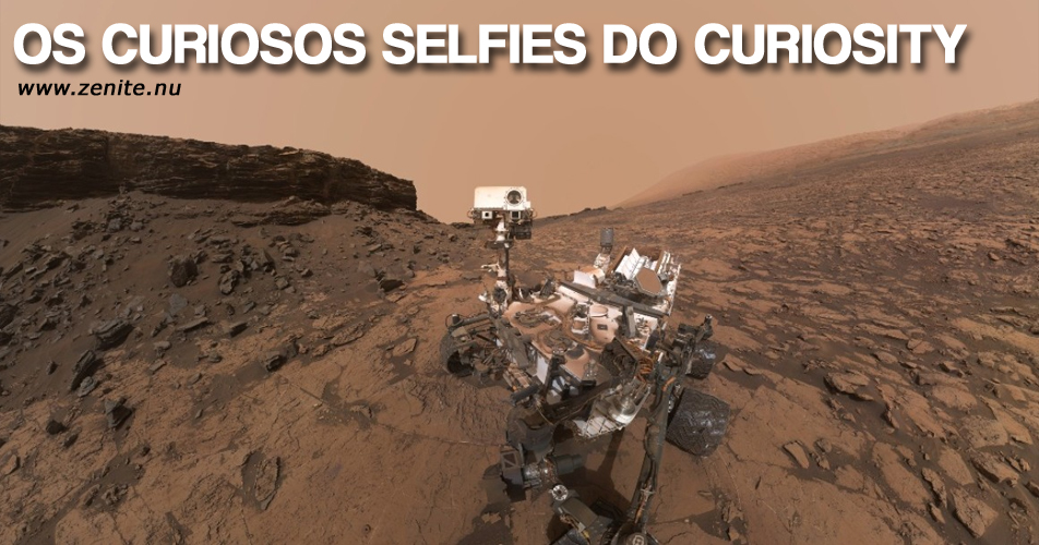 Os curiosos selfies do Curiosity