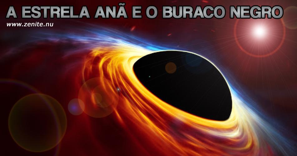 A estrela anã e o buraco negro